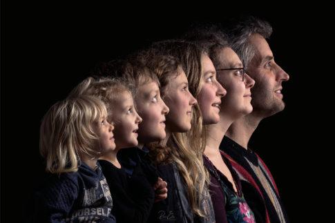 portrait famille studio profils